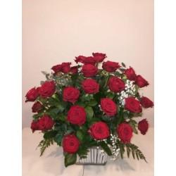 Centro de 50 rosas extras