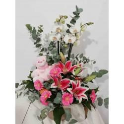 Centre lilium flor i planta...