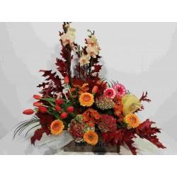 Centro de flor de otoño