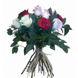 Ram de 10 roses variades